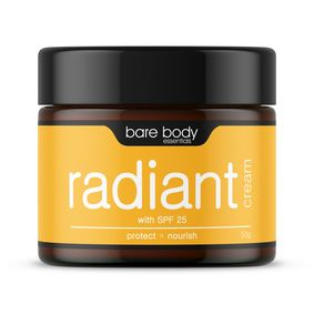 Bare Body Essentials Radiant Cream with SPF 25 (50g)